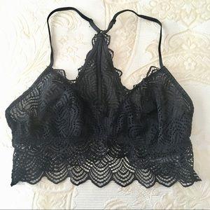 Black lace bralette